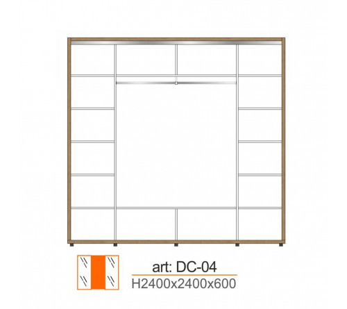 Dulap Cupe DC-04-2400