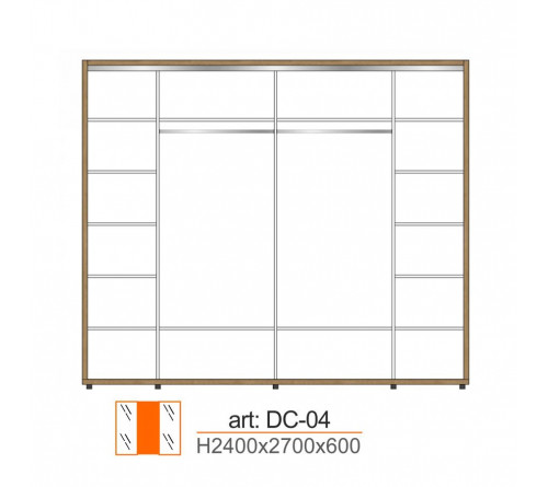 Dulap Cupe DC-04-2700