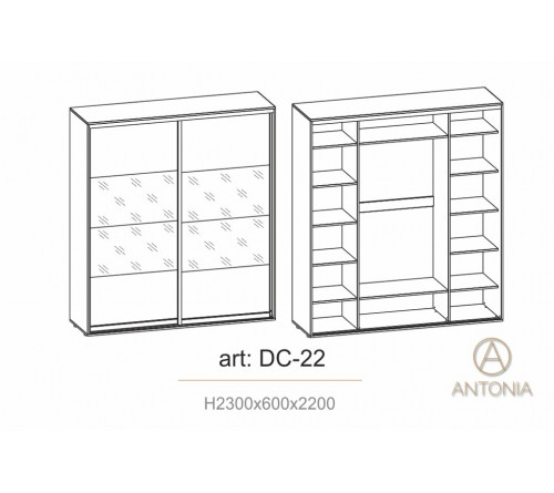 Dulap Cupe Infinity DC-22